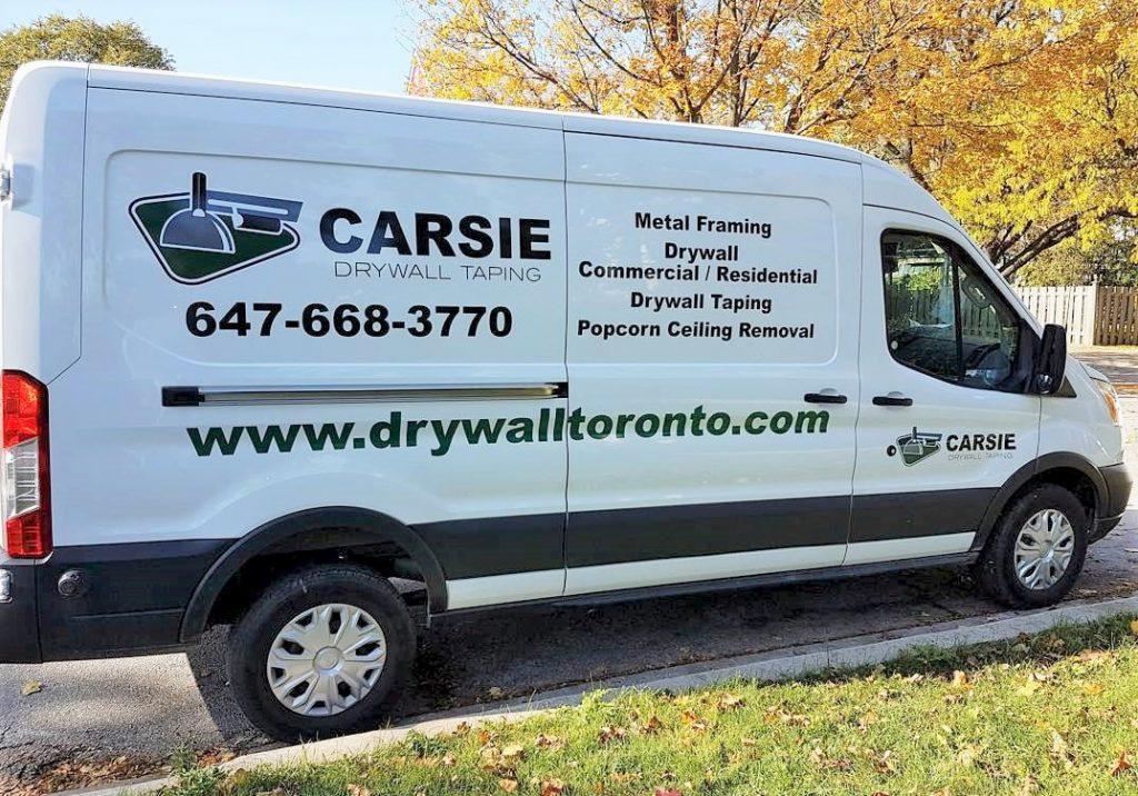 our team van - carsie drywall toronto