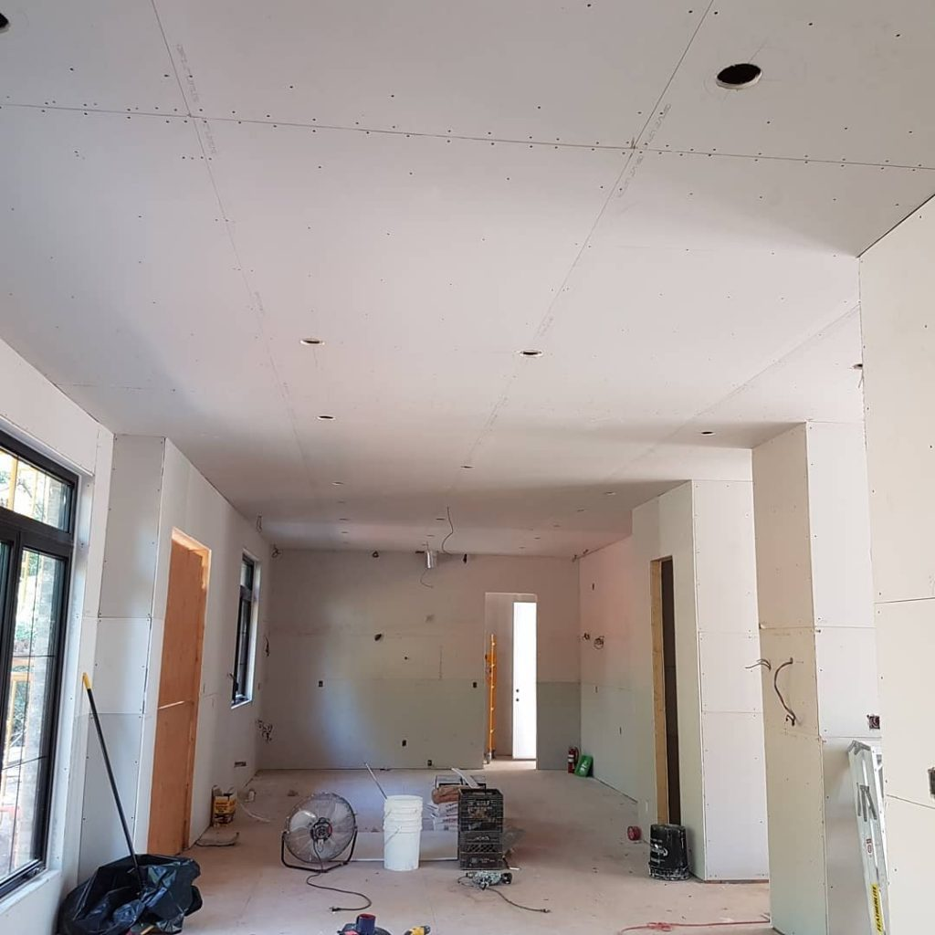 before applying sealing to new drywall installation - drywall contractors toronto