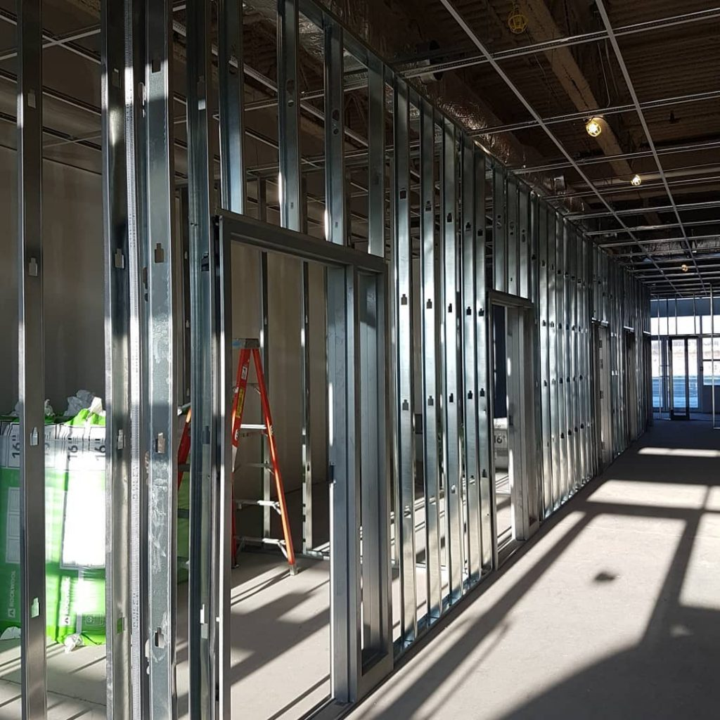 custom office building framing and drywall installation by carsie drywall toronto