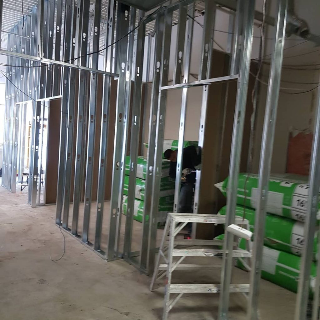 commercial building metal frame install - commercial drywall contractors toronto