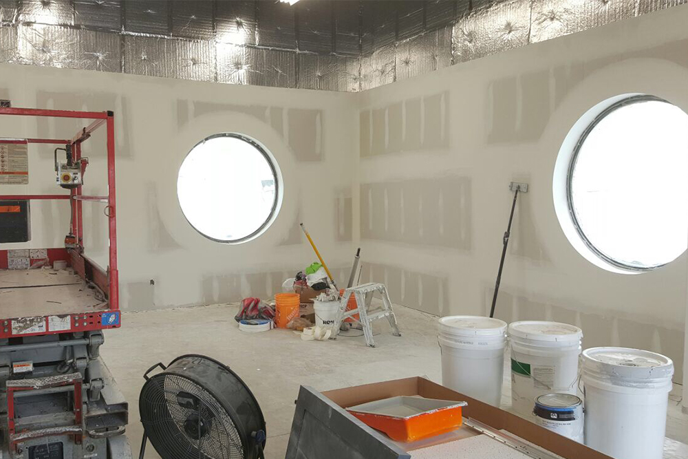 amazing drywall with round windows - drywall installation prices toronto