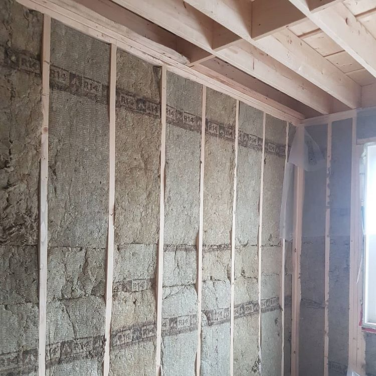 wooden frame and isolation installation before applying drywall - how to drywall