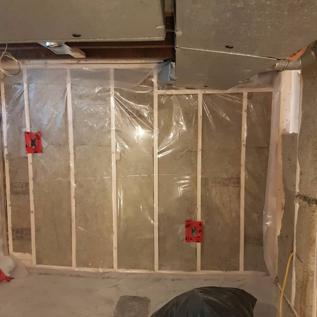wooden framing and isolating by carsie drywall toronto