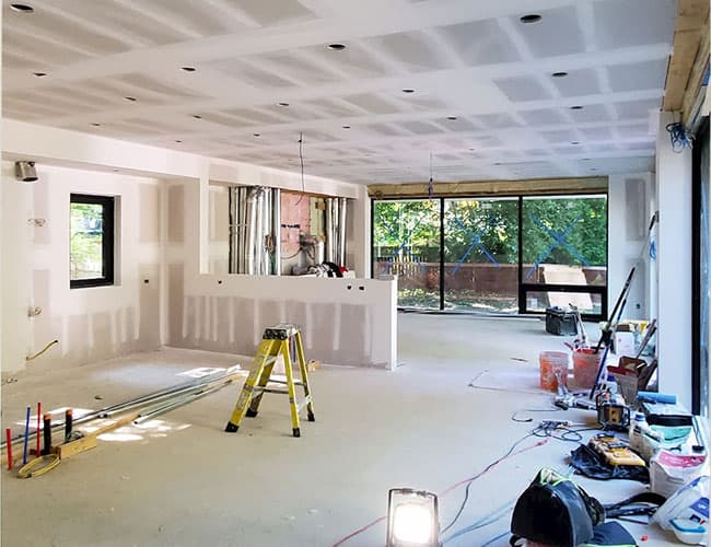 custom home with dry wall installation - drywall contractors Richmond Hill