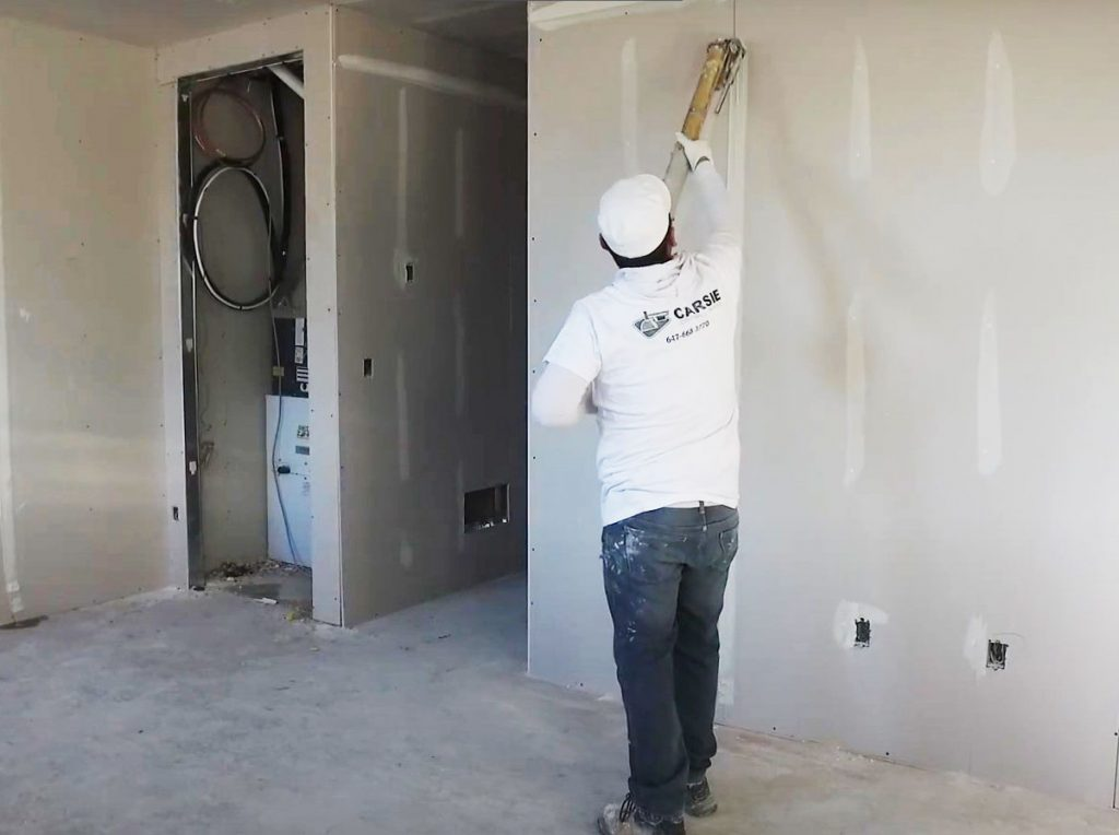 Drywall Installation in New Office